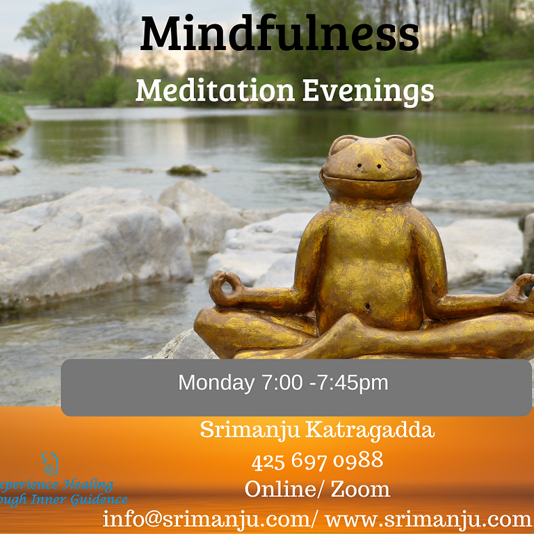 Monday Mindfulness Meditation for Adults 5 weeks Online