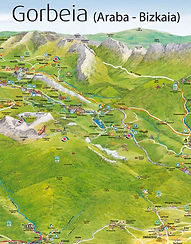 Mapa del Parque Natural de Gorbeia
