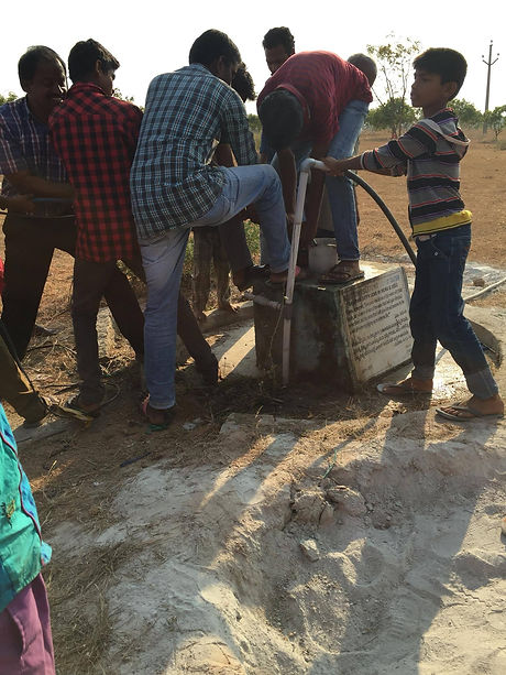 Our Indian team building a well.
