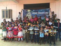 Fêtes de Noël orphelinat en Inde