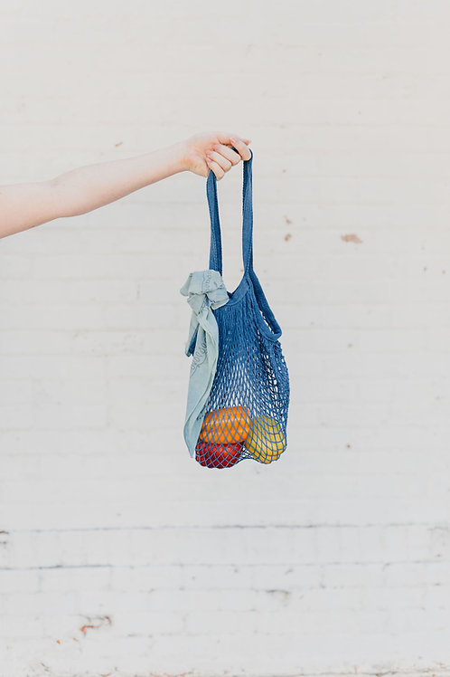Indigo Net Market Bag