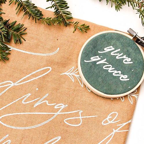Give Grace Hoop Ornament