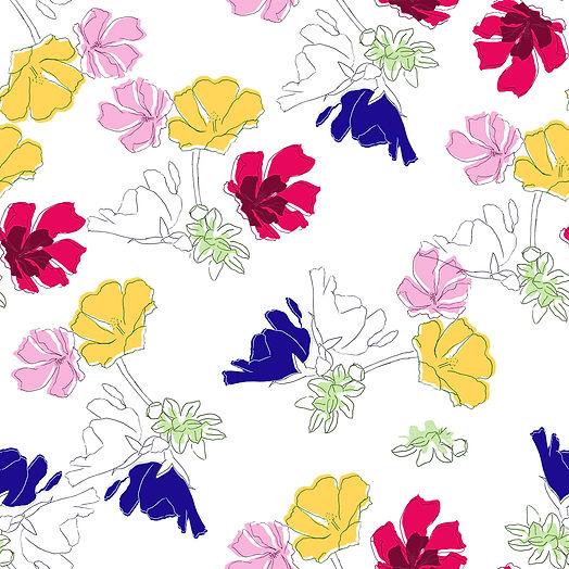 Fleurs des champs motif