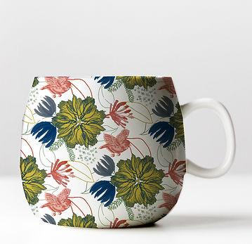 Tasse motif floral