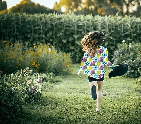 Au jardin mode enfant