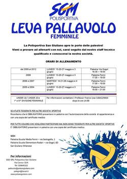 LEVA STAGIONE SPORTIVA 2019/2020