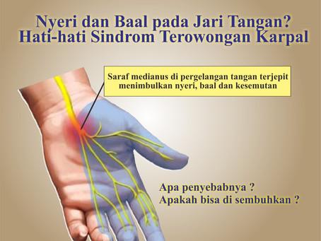 Nyeri dan Baal pada Jari Tangan? Oleh : dr Yovita Stevina Sutantio Sp.N