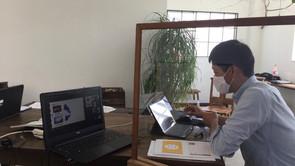 加藤学園暁秀初等学校のオンライン授業を行いました
