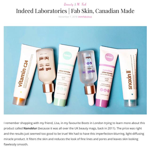 Indeed Laboratories | Fab Skin, Canadian-Made