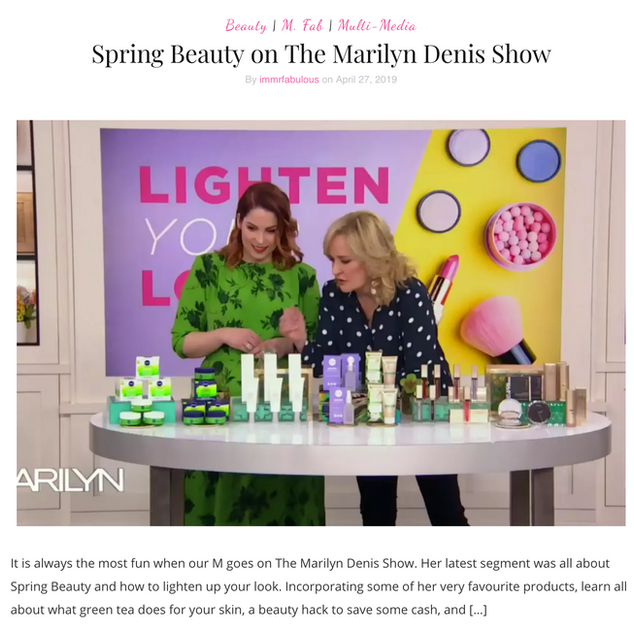 Spring Beauty on Marilyn Denis