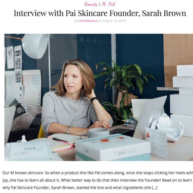 Interview with Pai Founder, Sarah Brown
