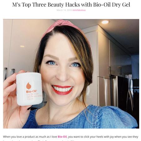 Bio Oil Dry Gel Beauty Hacks