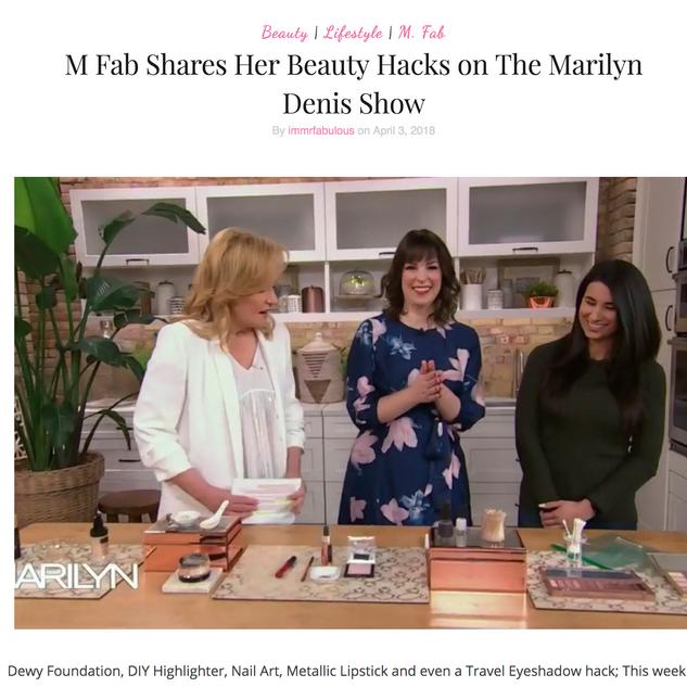 Beauty Hacks on Marilyn Denis