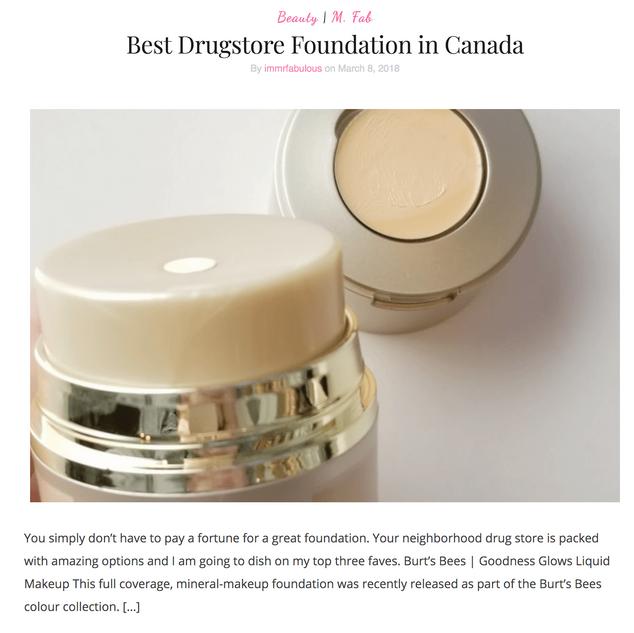 Best Drugstore Foundation in Canada