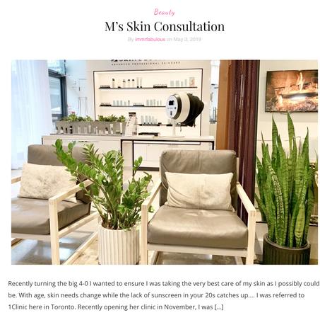My Skin Consultation
