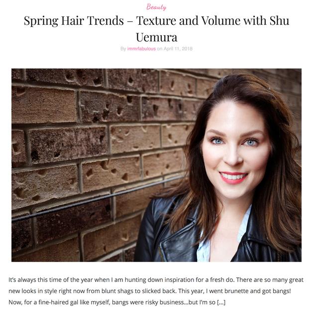 Spring Hair Trends - Shu Uemura