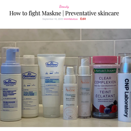 How to fight Maskne | Preventative skincare