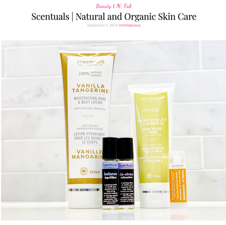 Scentuals natural and organic skin care