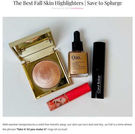 Best Fall Skin Highlighters