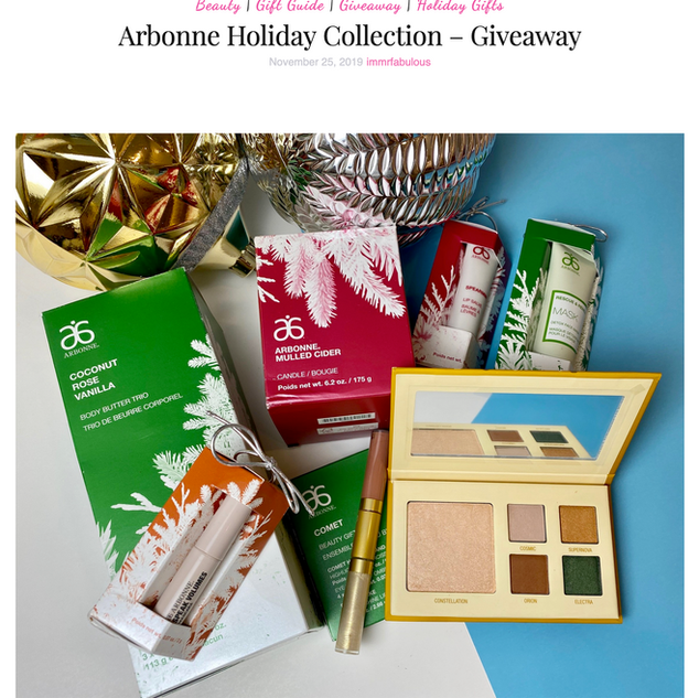 Arbonne Holiday Collection Giveaway
