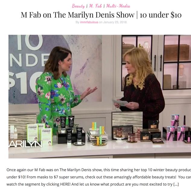 My Top 10 Under $10 on Marilyn Denis