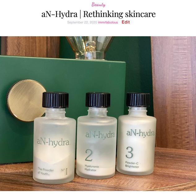aN-Hydra | Rethinking skincare