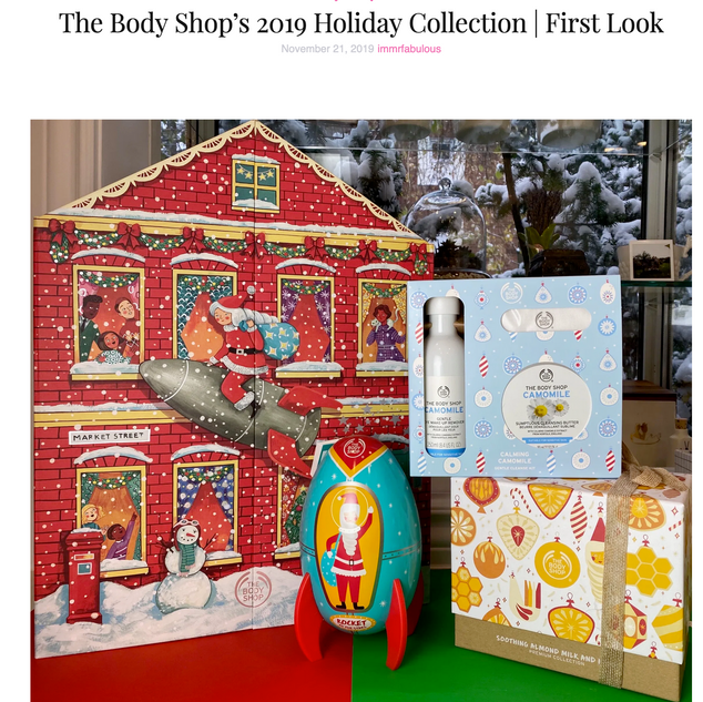 The Body Shop 2019 Holiday Collection