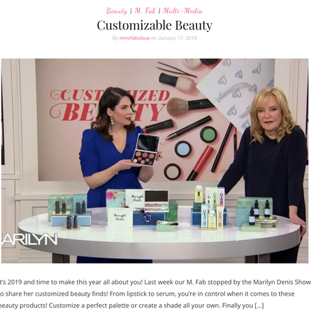 Custom Beauty Products on The Marilyn Denis Show