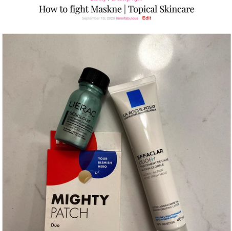 How to fight Maskne | Topical Skincare