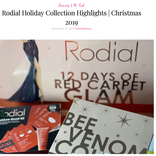 Rodial holiday collection highlights | Christmas 2019