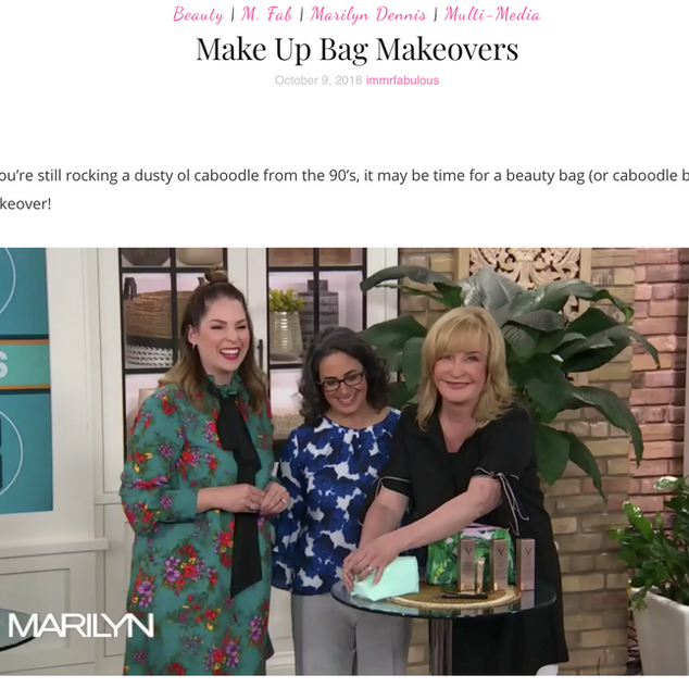 Makeup Bag Makeovers on Marilyn Denis