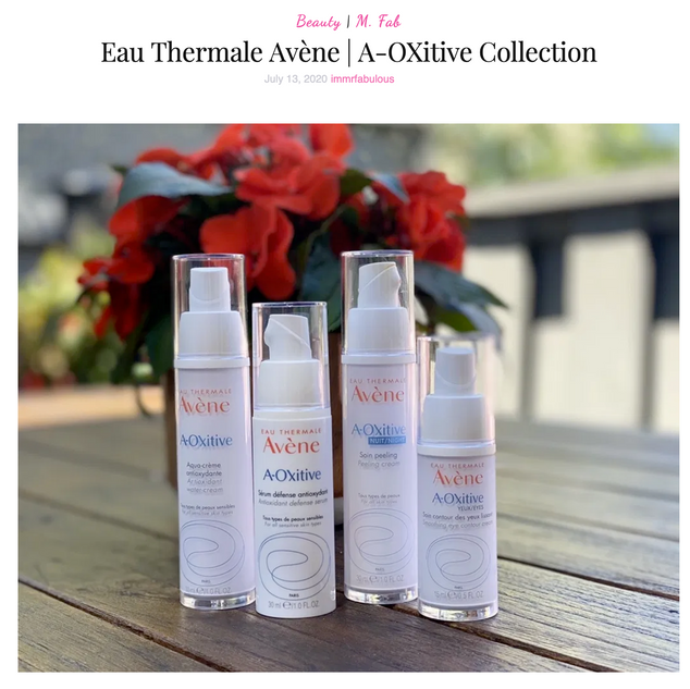 Avène A-Oxitive Skincare Collection