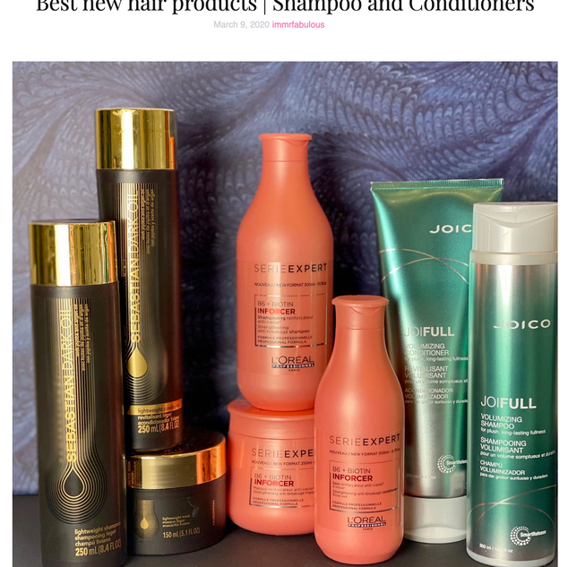 Best new Shampoo and Conditioners