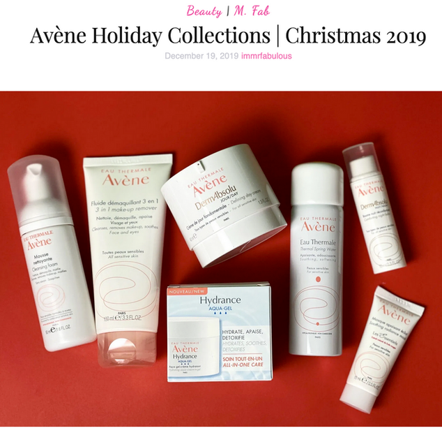 Avène Holiday Collections 2019