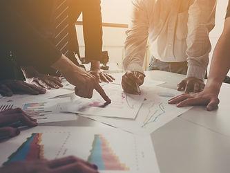 group-businessman-meeting-analyze-compan