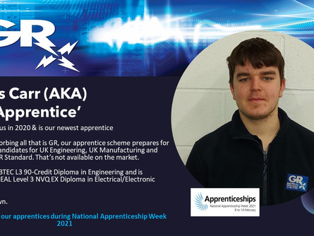 Recognising our apprentices during National Apprenticeship Week 2021