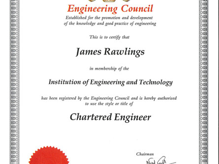 James Rawlings - Chartered Engineer