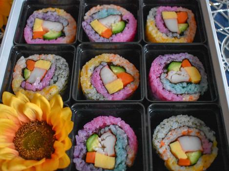 Rainbow Sushi Roll