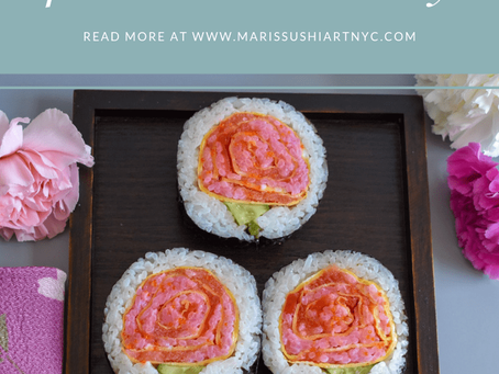 Carnation Sushi for the mother's day