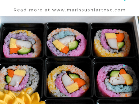 How to make Rainbow Sushi Roll