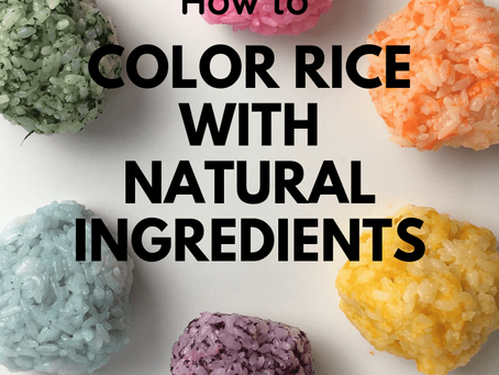 How to color rice with Natural ingredients