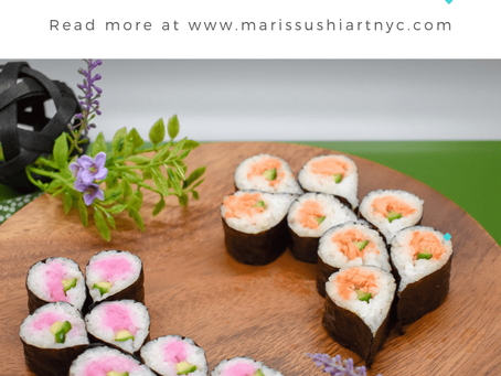Mini Sushi Appetizer – Wisteria Flower Sushi