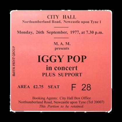 Iggy Pop City Hall Ticket Coaster