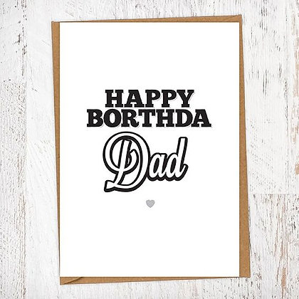 Happy Borthda Dad Geordie Birthday Card