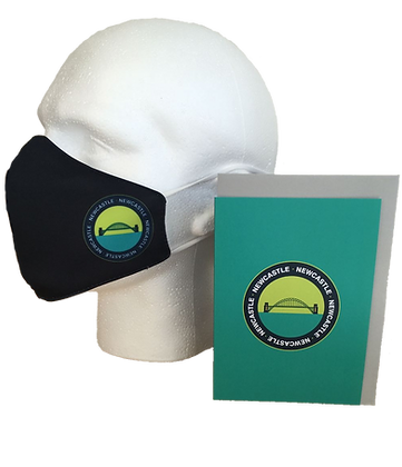 Tyne Bridge Badge Face Mask with Greeting Card