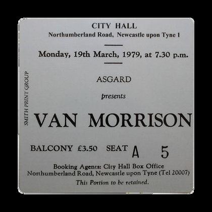 Van Morrison City Hall Ticket Coaster