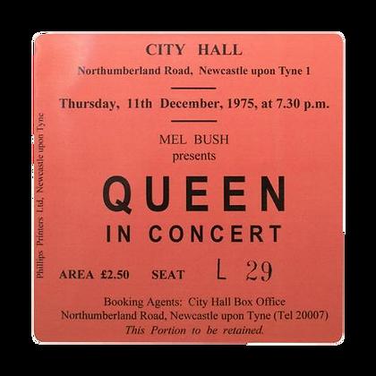 QUEEN City Hall Ticket Coaster