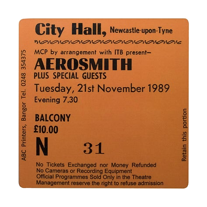 Aerosmith City Hall Ticket Coaster