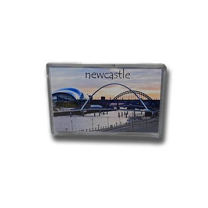 Millennium Bridge & River Tyne at Sunset Photo Magnet