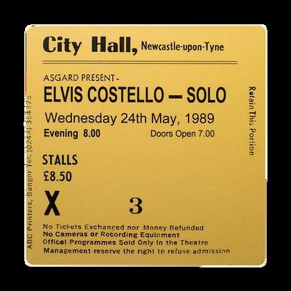 Elvis Costello City Hall Ticket Coaster